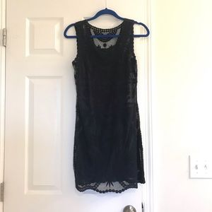 NAVY Express baroque embroidered lace tank dress